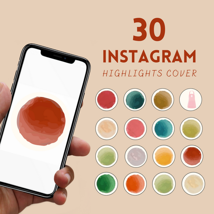 Autumn colors Instagram highlight covers - Svg Ocean