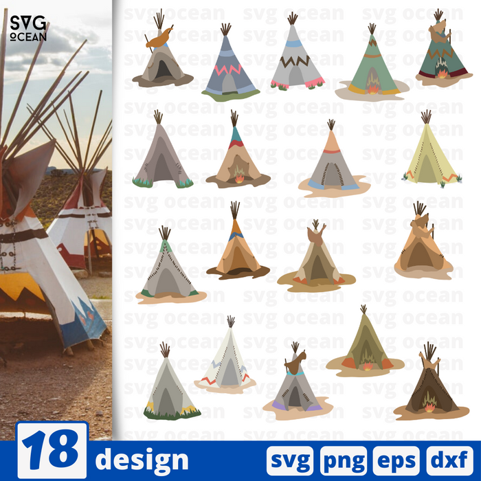 Tipis SVG vector bundle - Svg Ocean