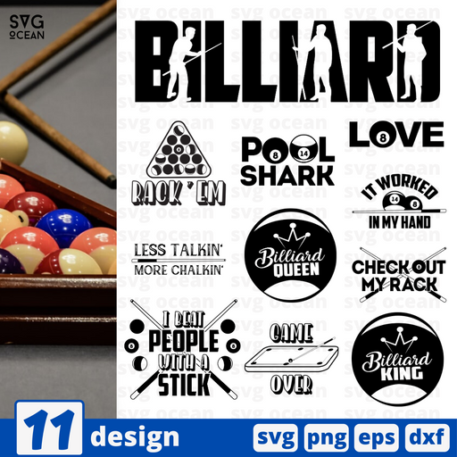 Billiard quotes SVG vector bundle - Svg Ocean