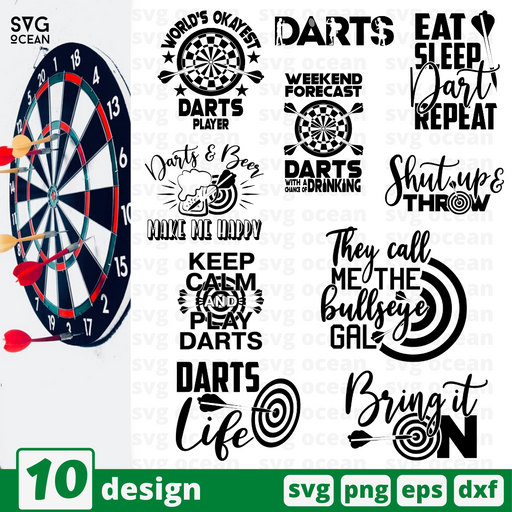Darts quotes SVG vector bundle - Svg Ocean
