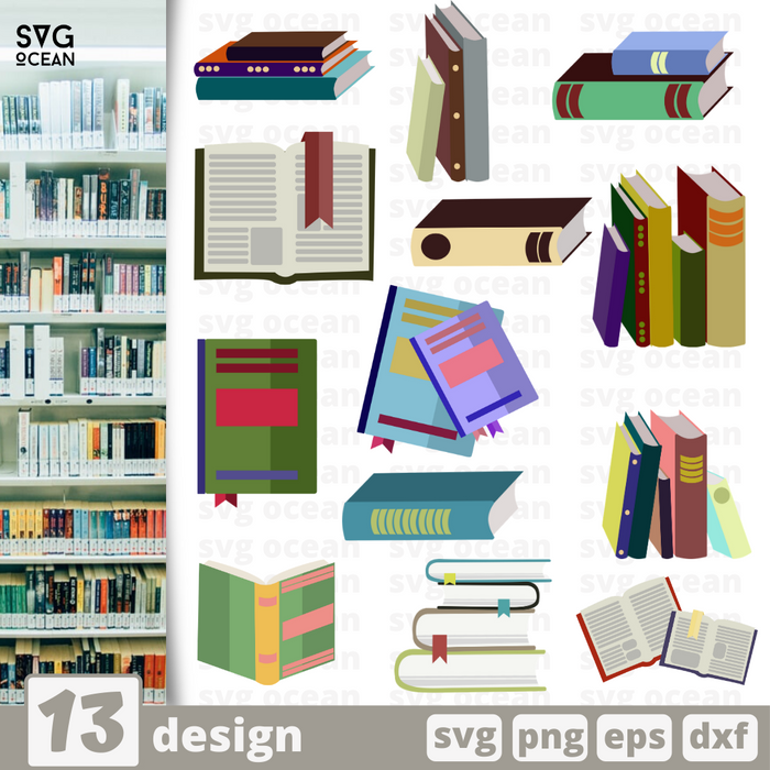 Books svg files for cricut - Svg Ocean