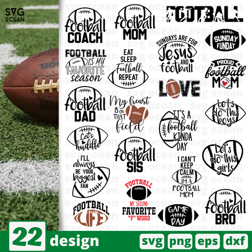 Football quotes SVG vector bundle - Svg Ocean