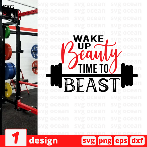 Wake up Beauty Time to Beast SVG vector bundle - Svg Ocean
