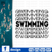 Swimming SVG vector bundle - Svg Ocean