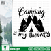 Camping is my therapy SVG vector bundle - Svg Ocean