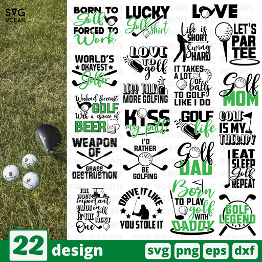 Golf quotes SVG vector bundle - Svg Ocean