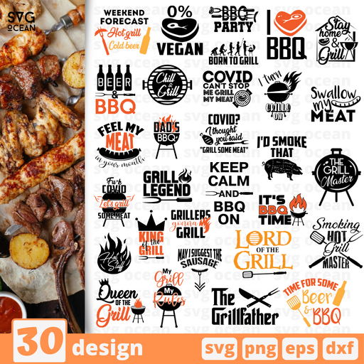 Grill quotes SVG vector bundle - Svg Ocean