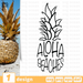 Free Pineapple quote SVG printable cut file Aloha beaches - Svg Ocean