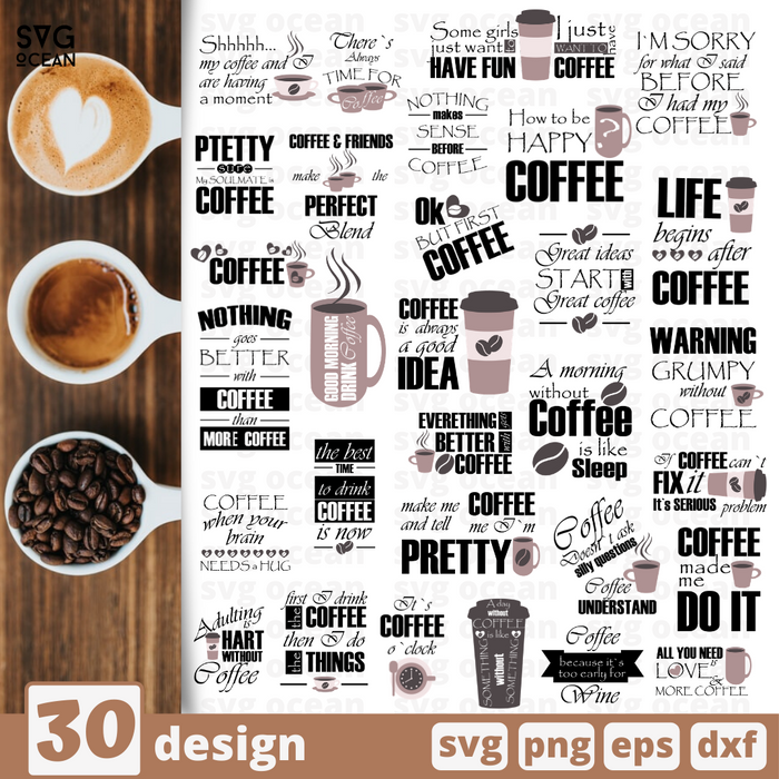 Coffee quotes SVG svg files for cricut - Svg Ocean