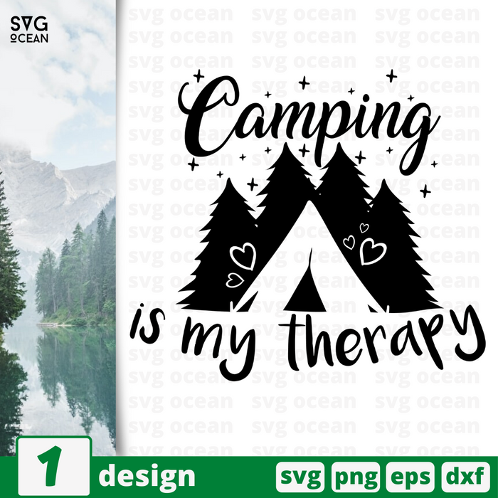 Camping is my therapy SVG cut file - Svg Ocean