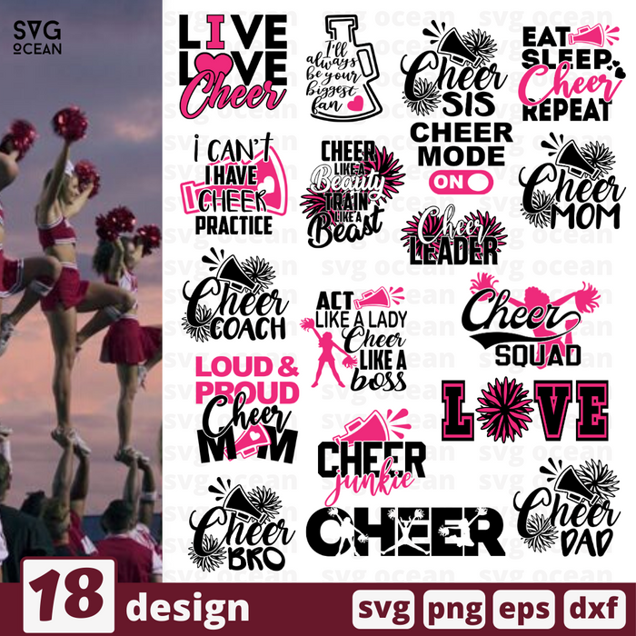 Cheer quotes SVG vector bundle - Svg Ocean