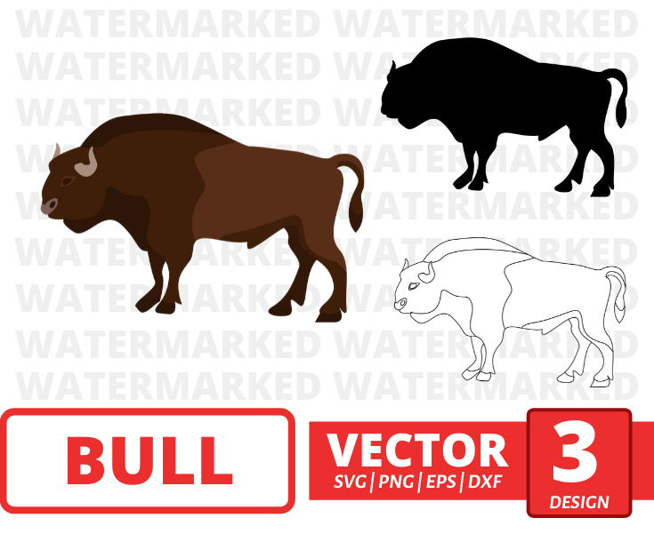 Bull SVG vector bundle - Svg Ocean