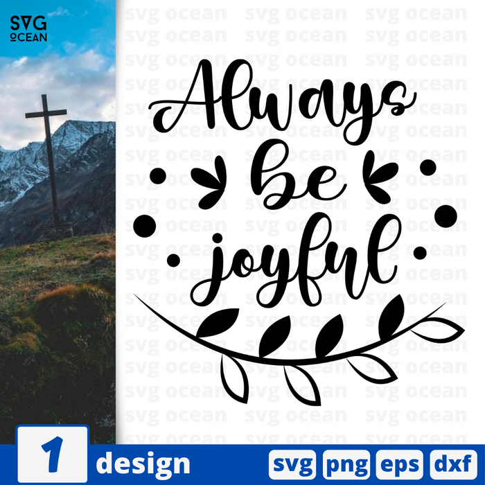 Always be joyful SVG vector bundle - Svg Ocean
