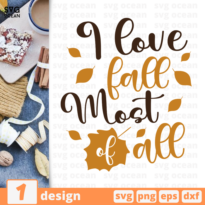 I love fall Most of all SVG vector bundle - Svg Ocean