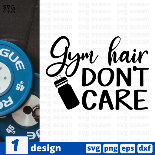 Gym hair don't care SVG vector bundle - Svg Ocean