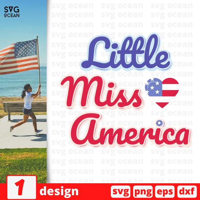 Little miss America SVG vector bundle - Svg Ocean