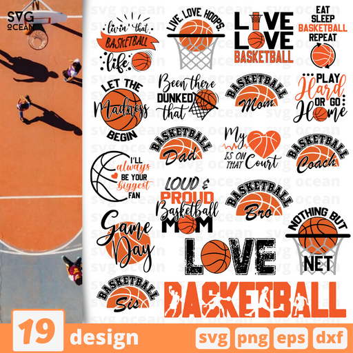 Basketball quotes SVG vector bundle - Svg Ocean