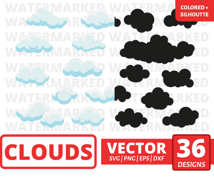 Clouds SVG Bundle