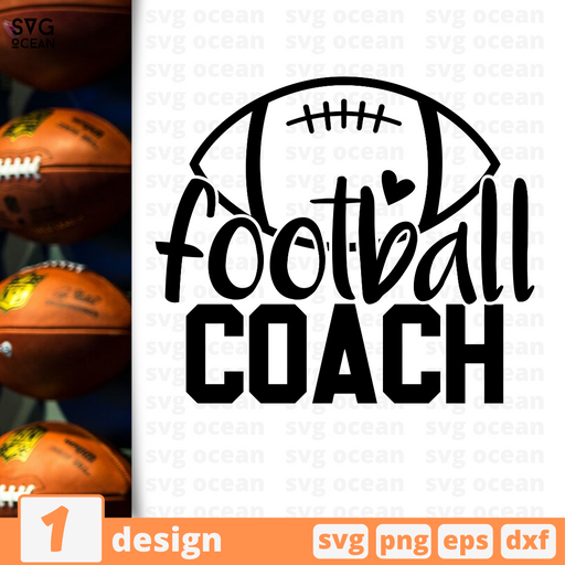 Football coach SVG vector bundle - Svg Ocean