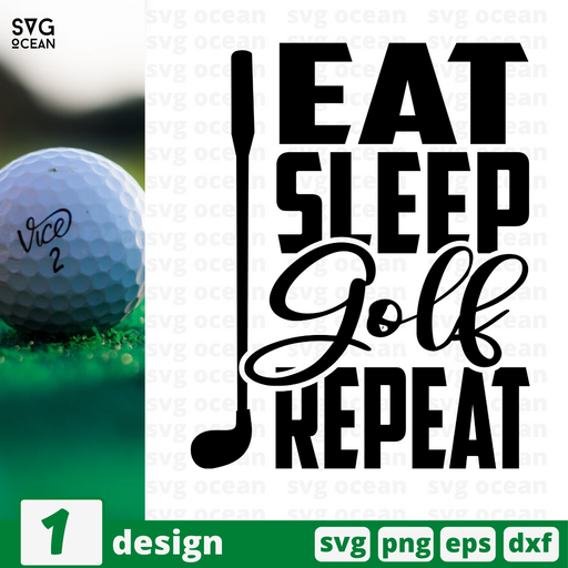 Eat Sleep Golf Repeat SVG vector bundle - Svg Ocean