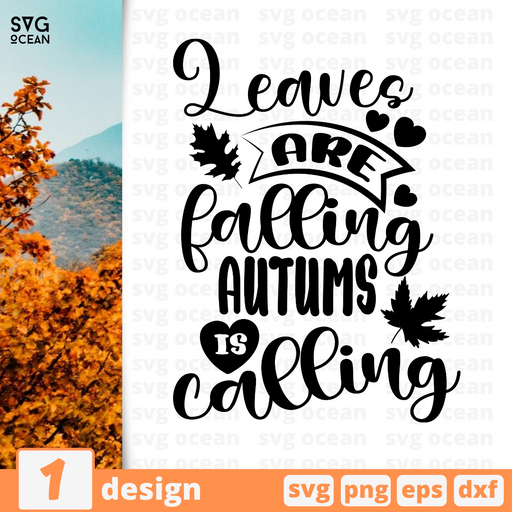 Leaves are falling  Autums is calling SVG vector bundle - Svg Ocean