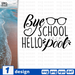 Bye school hello pool SVG vector bundle - Svg Ocean