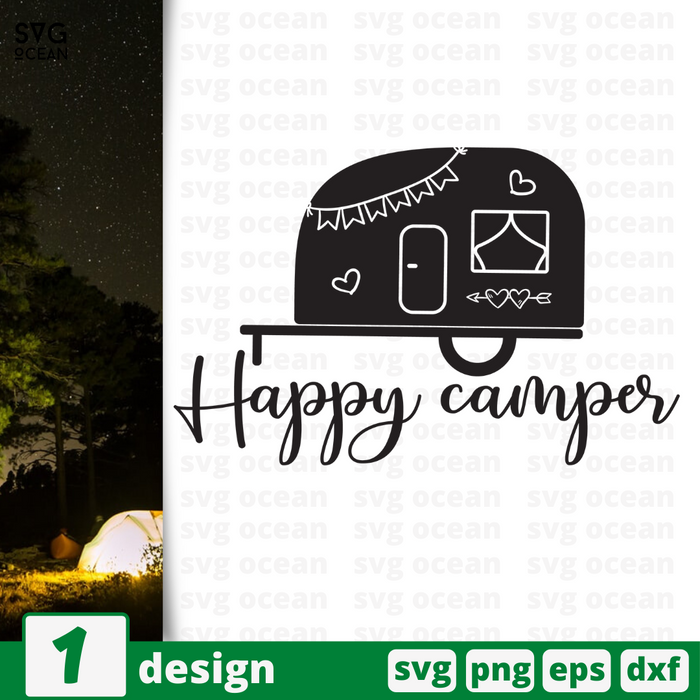 Happy campers SVG vector bundle - Svg Ocean
