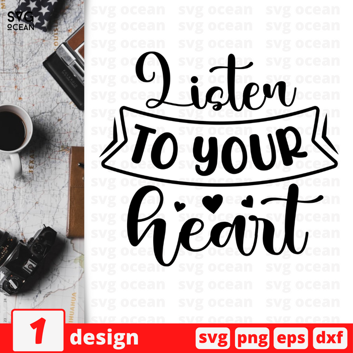 Listen to your heart SVG vector bundle - Svg Ocean