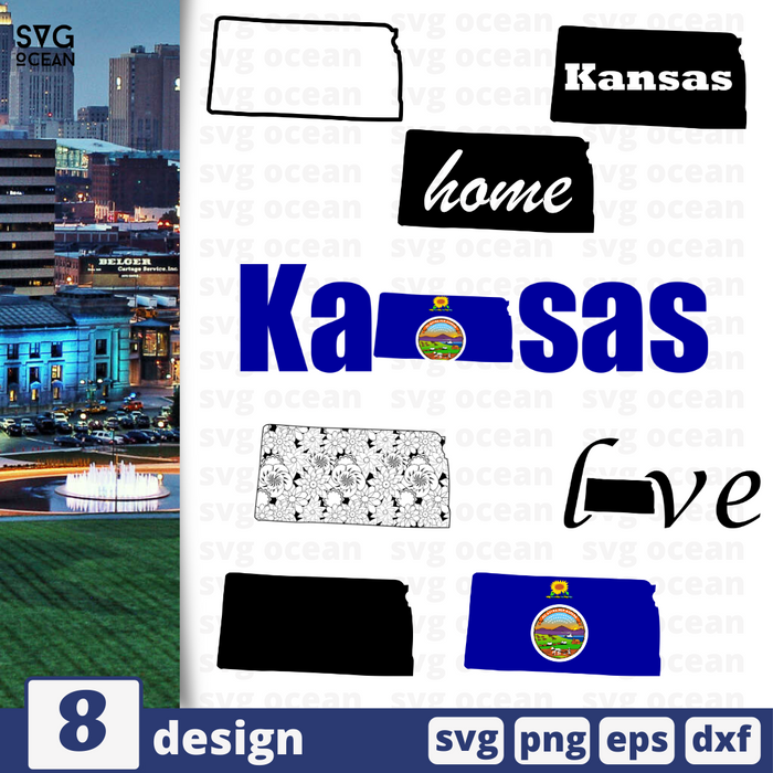 Kansas SVG vector bundle - Svg Ocean