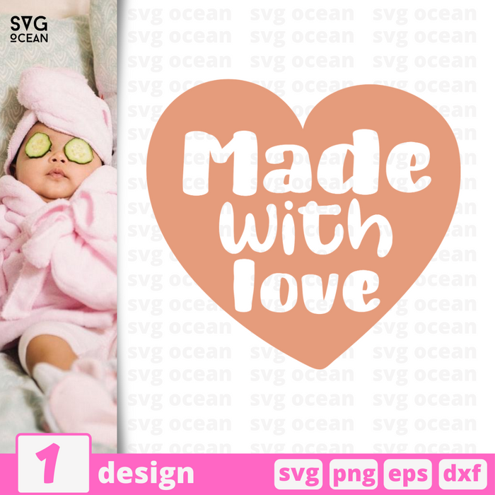 Made with love SVG vector bundle - Svg Ocean