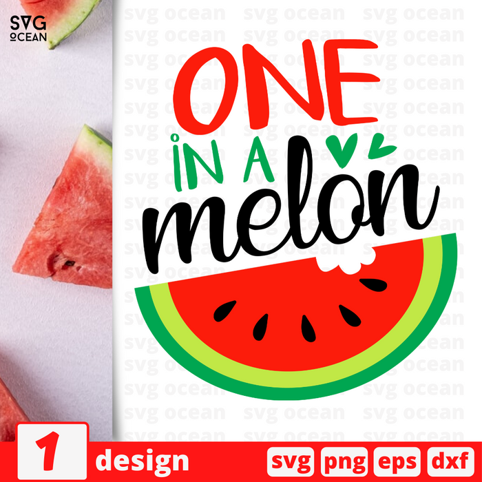 One in a melon SVG vector bundle - Svg Ocean