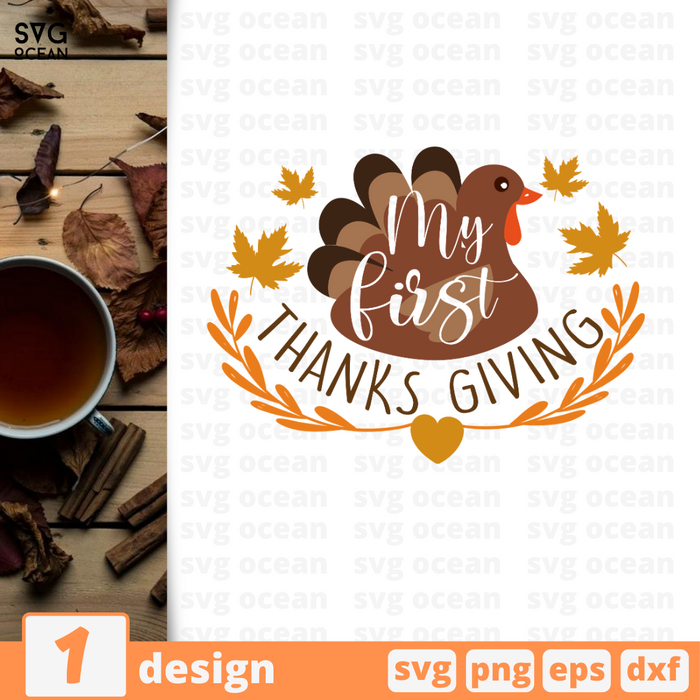My first thanks giving SVG vector bundle - Svg Ocean