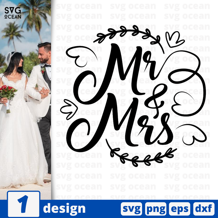 Mr & Mrs SVG vector bundle - Svg Ocean