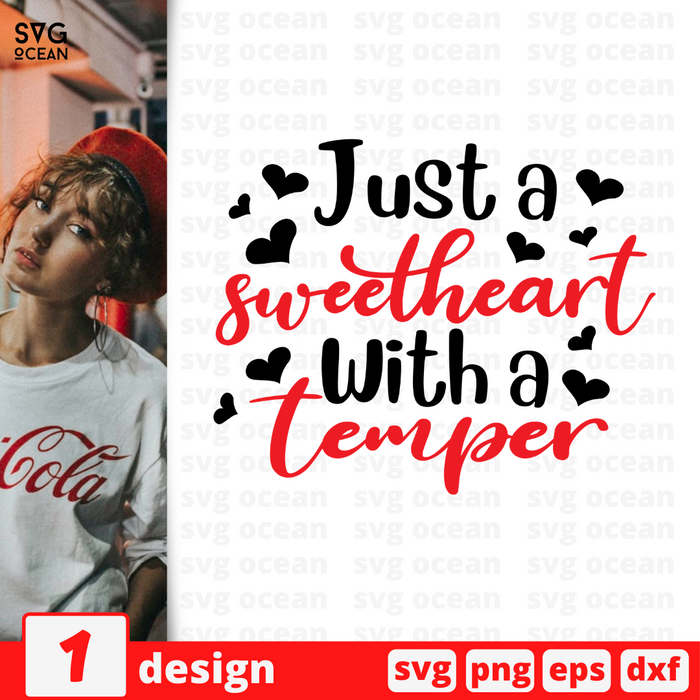 Just a sweetheart With a temper SVG vector bundle - Svg Ocean