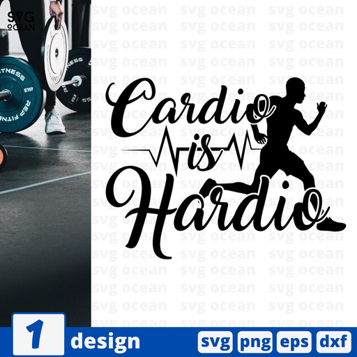 Cardio is hardio SVG vector bundle - Svg Ocean
