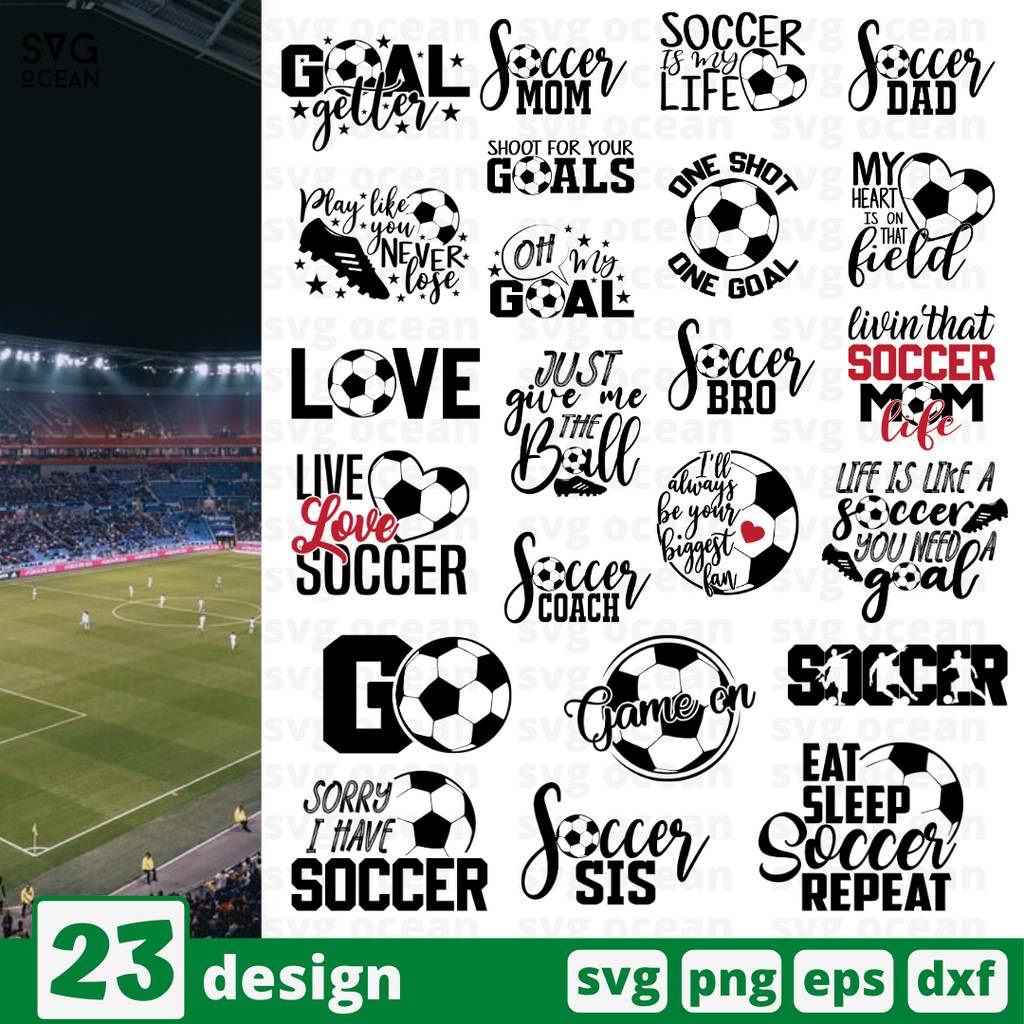 Soccer quotes SVG vector bundle - Svg Ocean