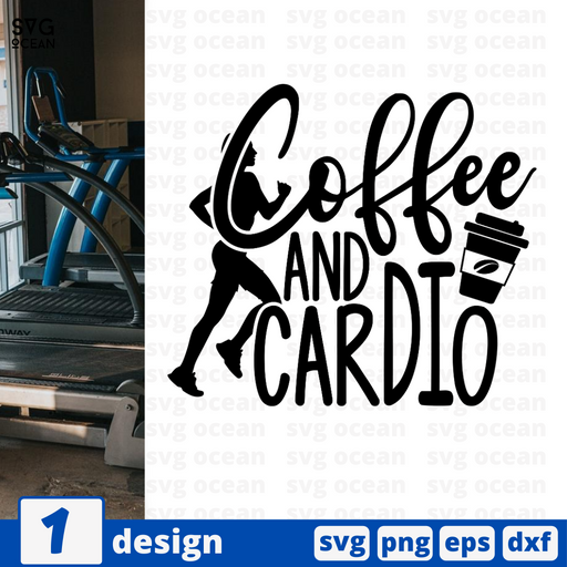 Coffee and cardio SVG vector bundle - Svg Ocean