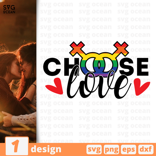 Choose love SVG vector bundle - Svg Ocean