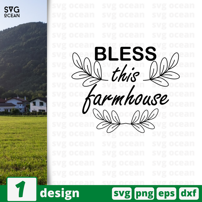 Bless this farmhouse SVG vector bundle - Svg Ocean