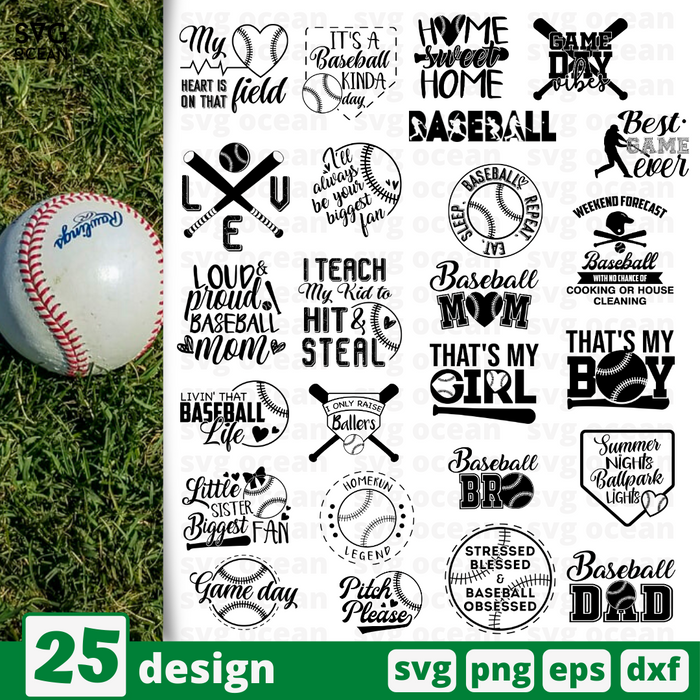 Baseball quotes SVG vector bundle - Svg Ocean