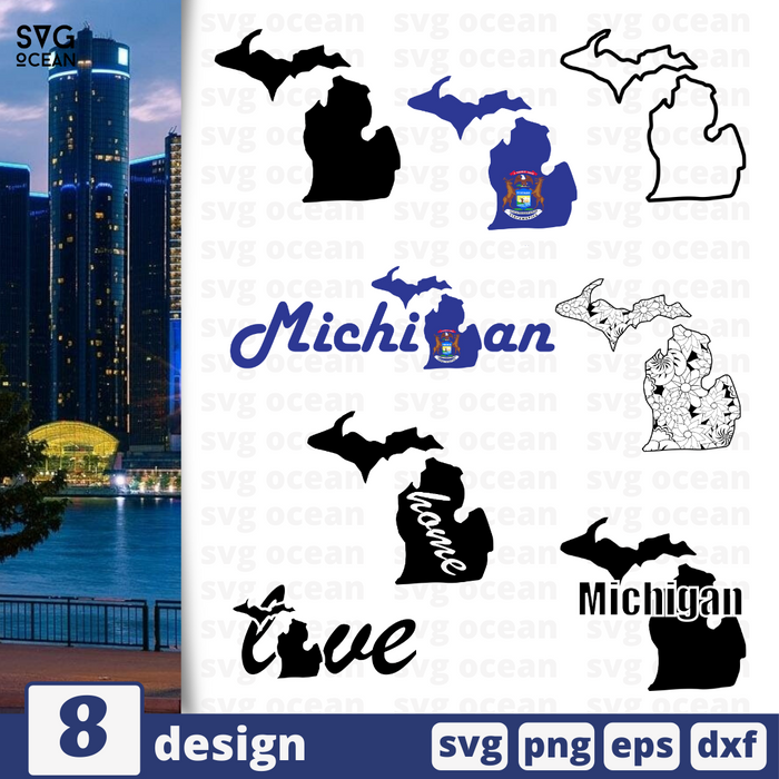 Michigan SVG vector bundle - Svg Ocean