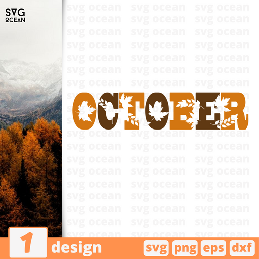 October SVG vector bundle - Svg Ocean