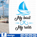 My boat my rules SVG vector bundle - Svg Ocean