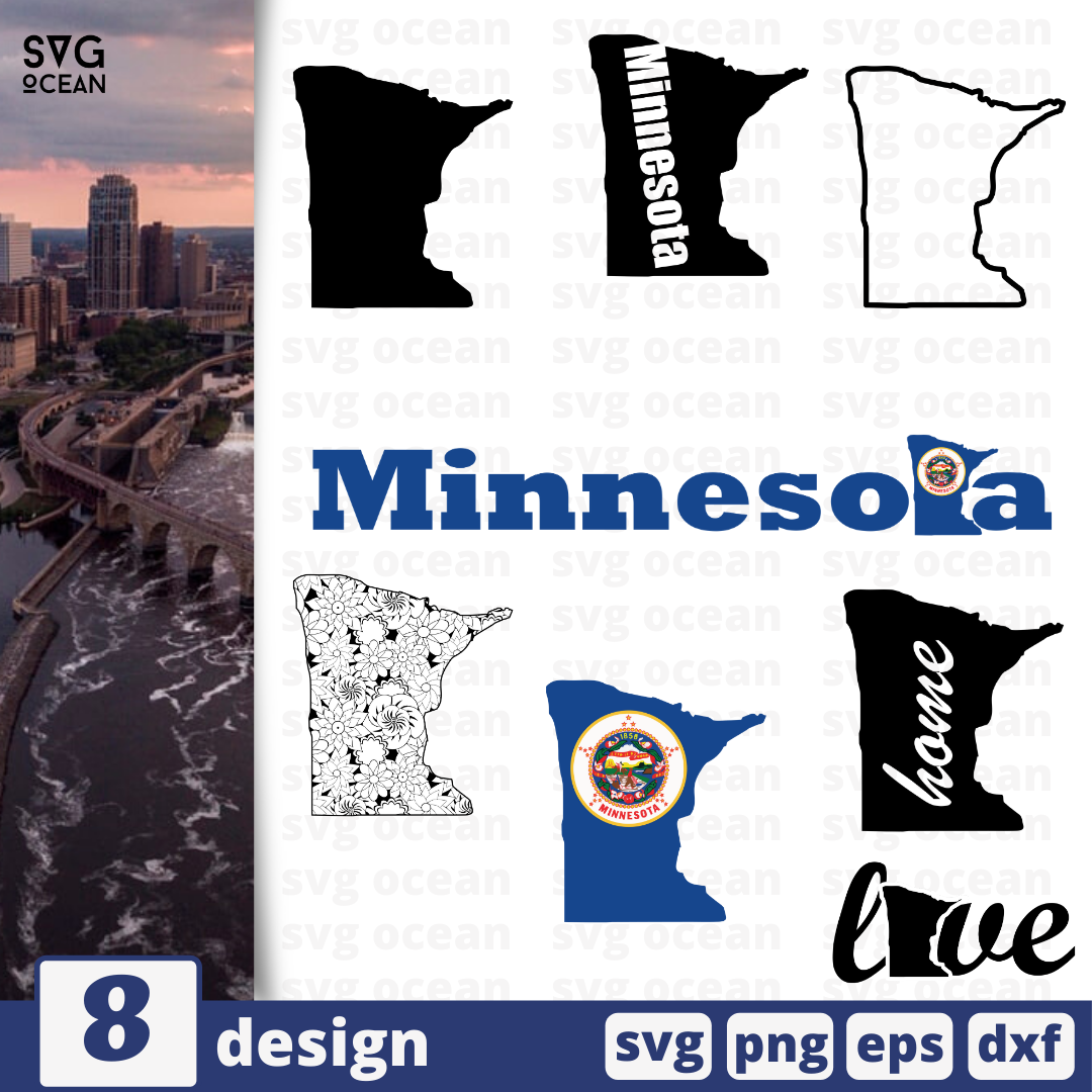 Minnesota SVG vector bundle - Svg Ocean