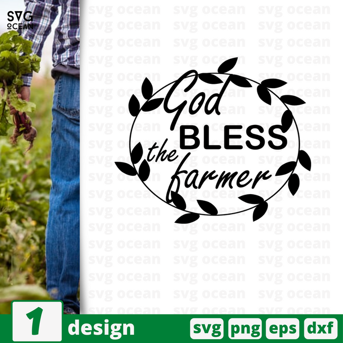 Bless this farmer SVG vector bundle - Svg Ocean