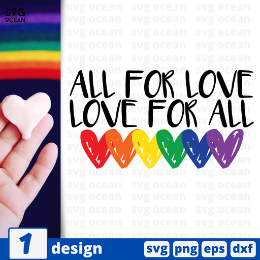 All for love Love for all SVG vector bundle - Svg Ocean