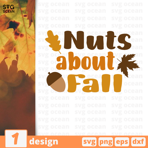 Nuts about Fall SVG vector bundle - Svg Ocean