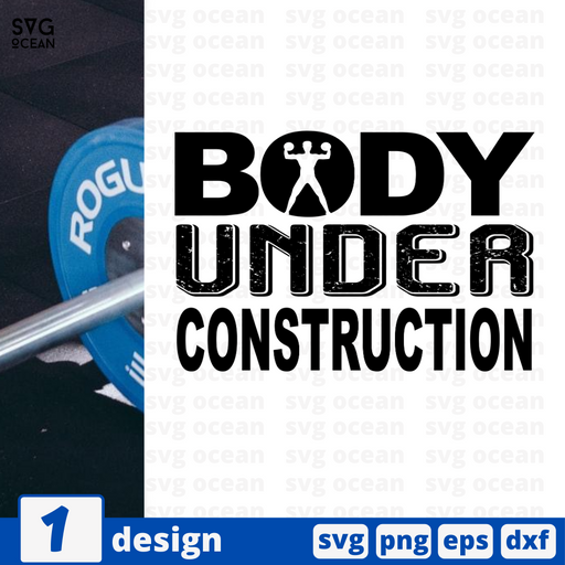 Body under construction SVG vector bundle - Svg Ocean