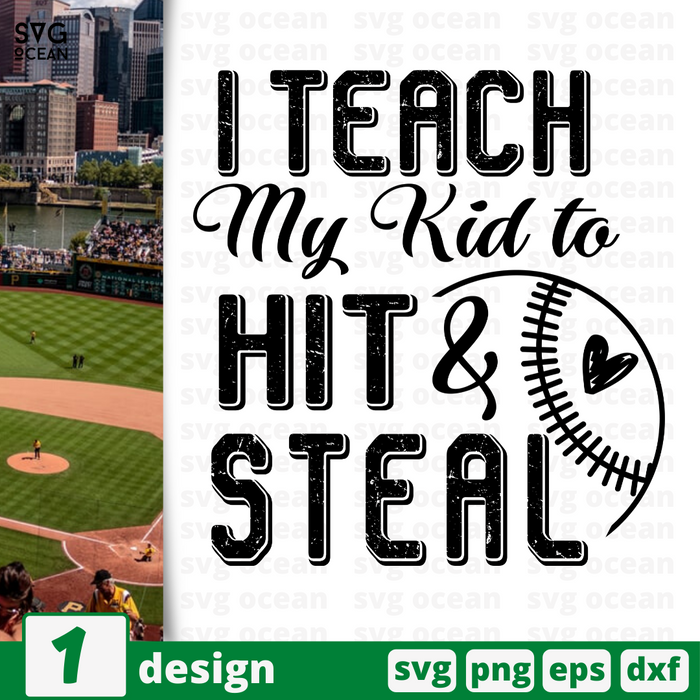 I teach my kid to Hit & Steal SVG vector bundle - Svg Ocean