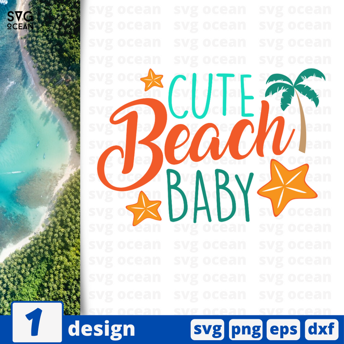 Cute beach baby SVG vector bundle - Svg Ocean